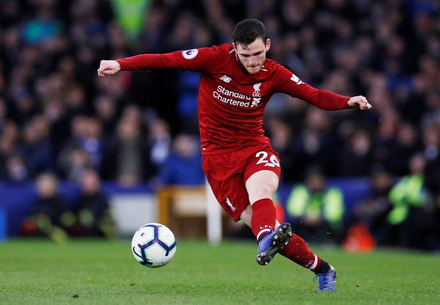 Robertson, Everton v Liverpool