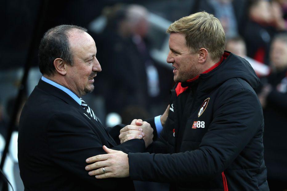 Rafa Benitez and Eddie Howe