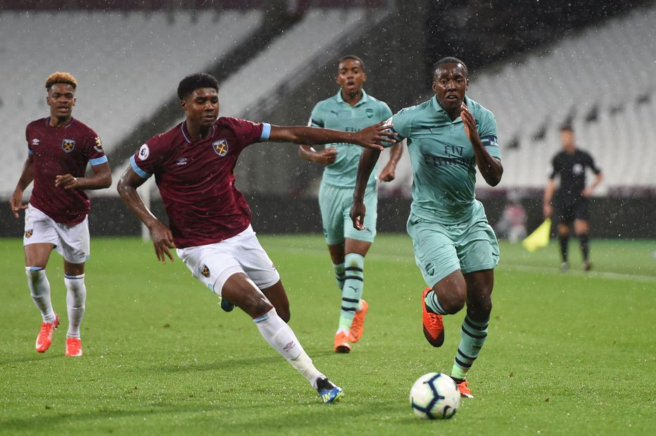 West Ham in PL2 action against Arsenal