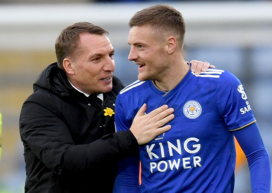 Jamie Vardy and Brendan Rodgers, Leicester City