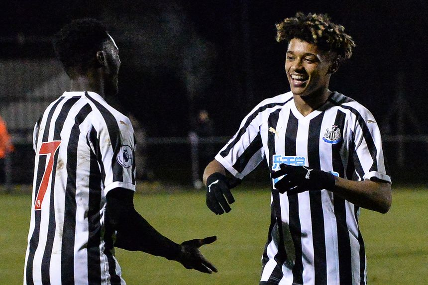 Newcastle's PL2 players celebrate