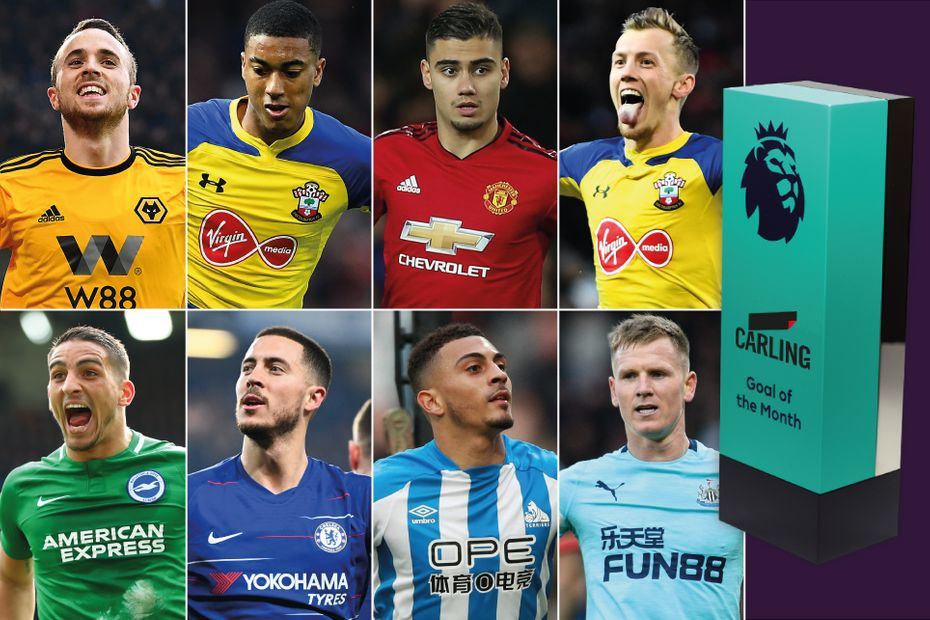 Carling Goal of the Month nominees March 2019
