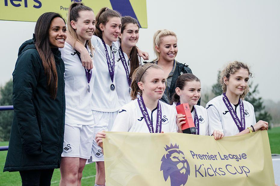 Swansea City win the 2019 Premier League Kicks Cup
