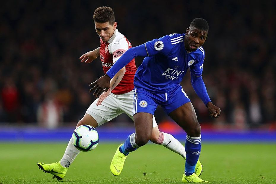 Kelechi Iheancho, Leicester, and Lucas Torreira, Arsenal