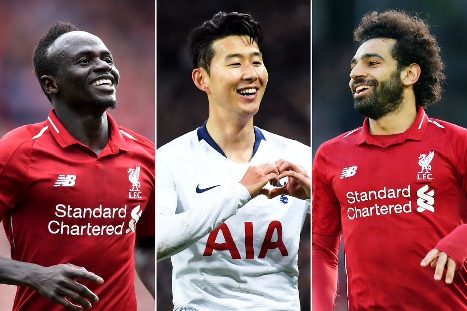 Sadio Mane, Son Heung-min, Mohamed Salah