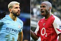 Aguero and Henry: 20+ goals in five successive seasons