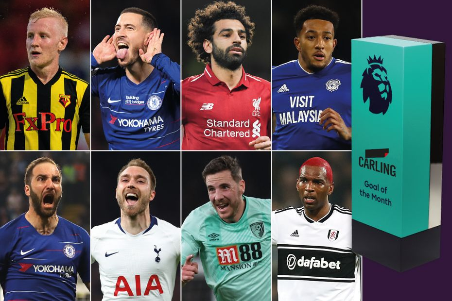 Carling Goal of the Month shortlist