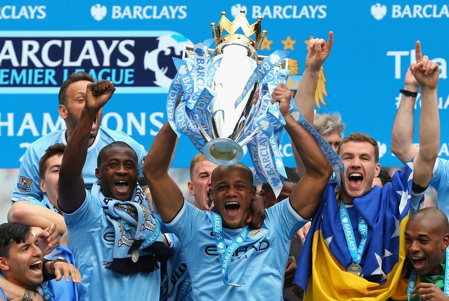 Man City Trophy lift, 2013/14