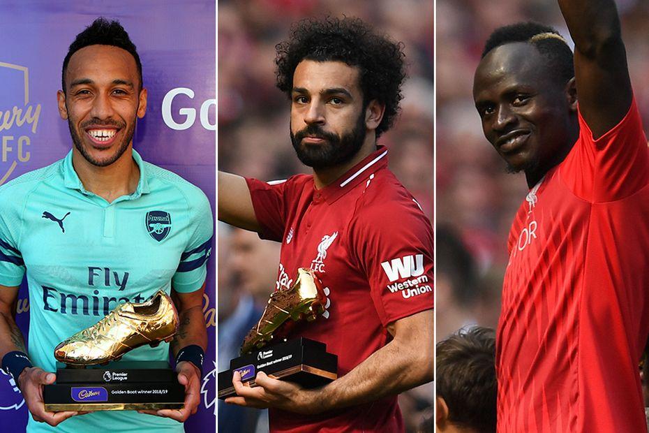 Pierre-Emerick Aubameyang, Mohamed Salah and Sadio Mane win Golden Boot