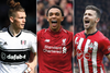 Harvey Elliot, Trent Alexander-Arnold and Shane Long