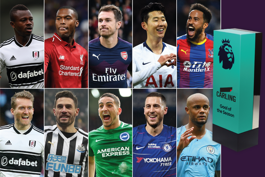 Carling Goal of the Season shortlist 2018/19