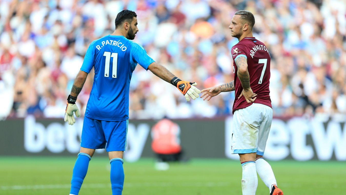 It was a frustrating day for Marko Arnautovic as RuI Patricio denied him on multiple occasions