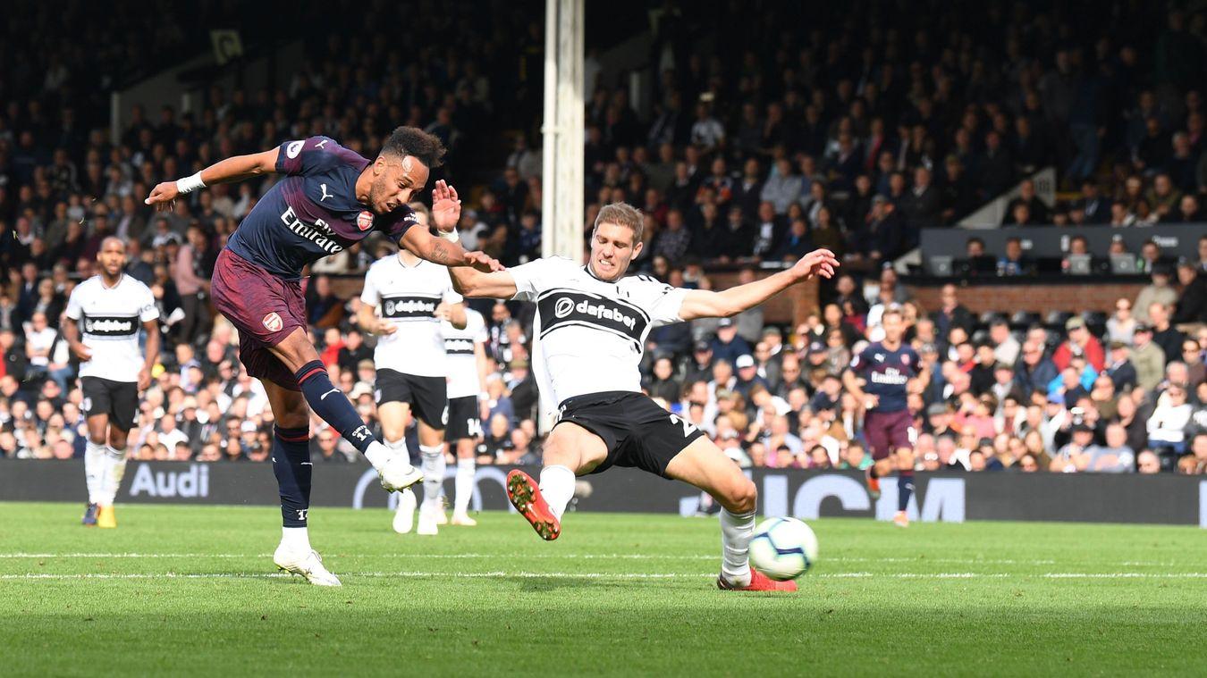 Aubameyang's brace helped the Gunners blow Fulham away
