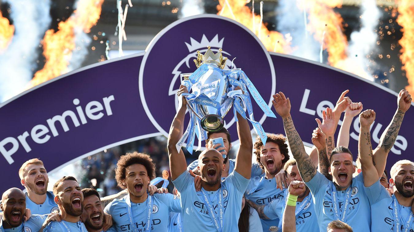 Man City lift their second successive Premier League title