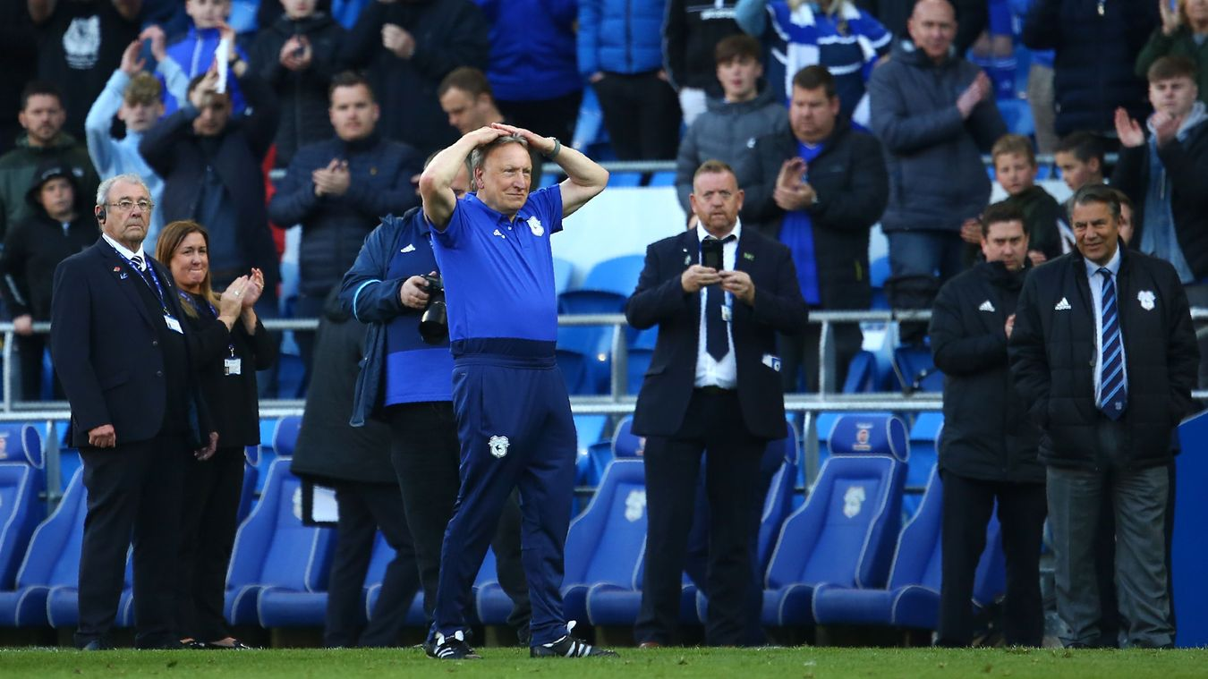 Neil Warnock reacts as his side are relegated after losing to Crystal Palace