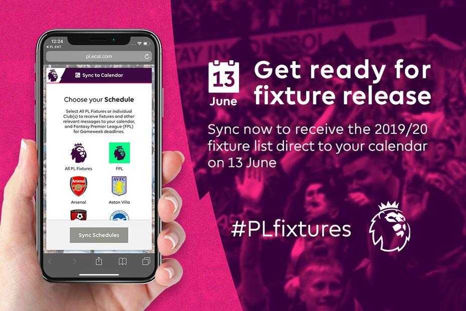 Download the digital calendar of the 2019/20 Premier League