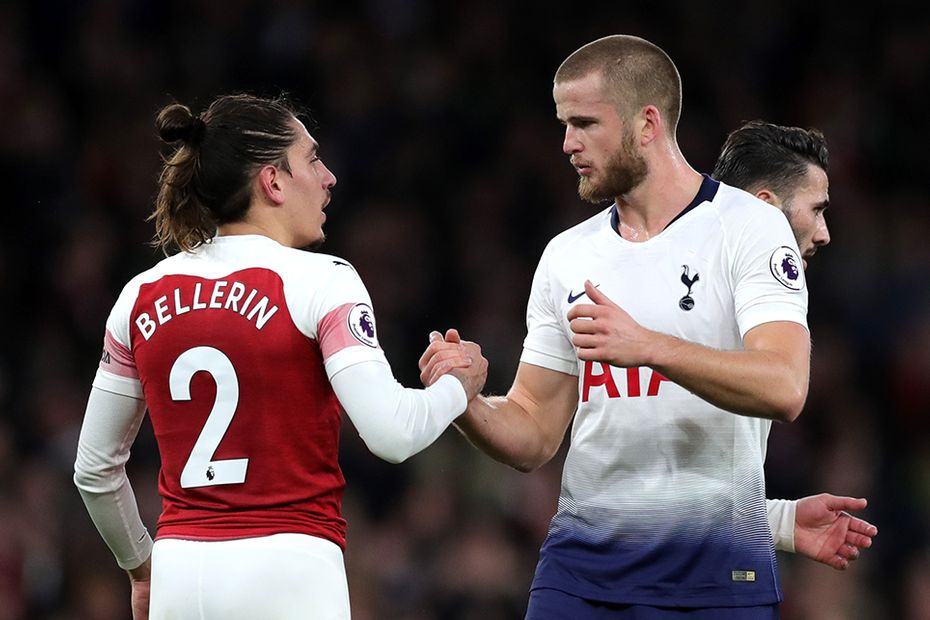 Hector Bellerin and Eric Dier