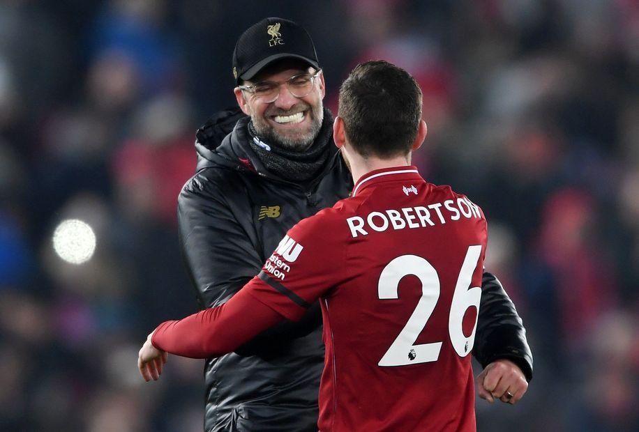 Jurgen Klopp and Andrew Robertson, Liverpool