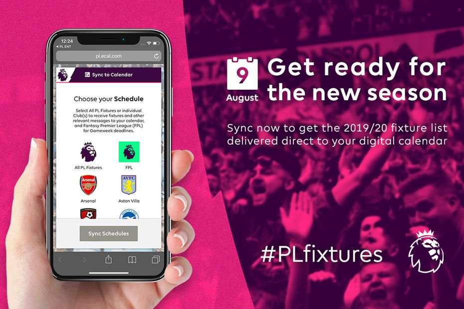 Calendario Premier 2020.Download The 2019 20 Fixtures To Your Calendar