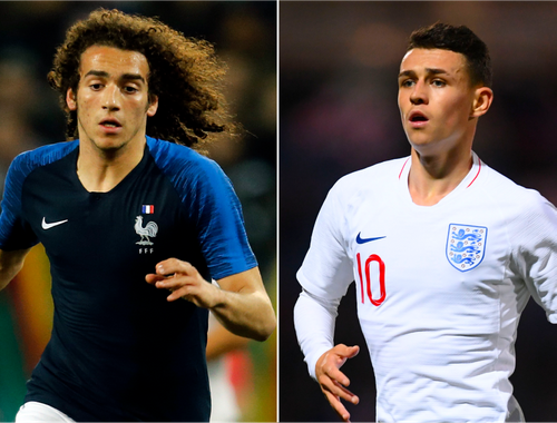 Matteo Guendouzi and Phil Foden