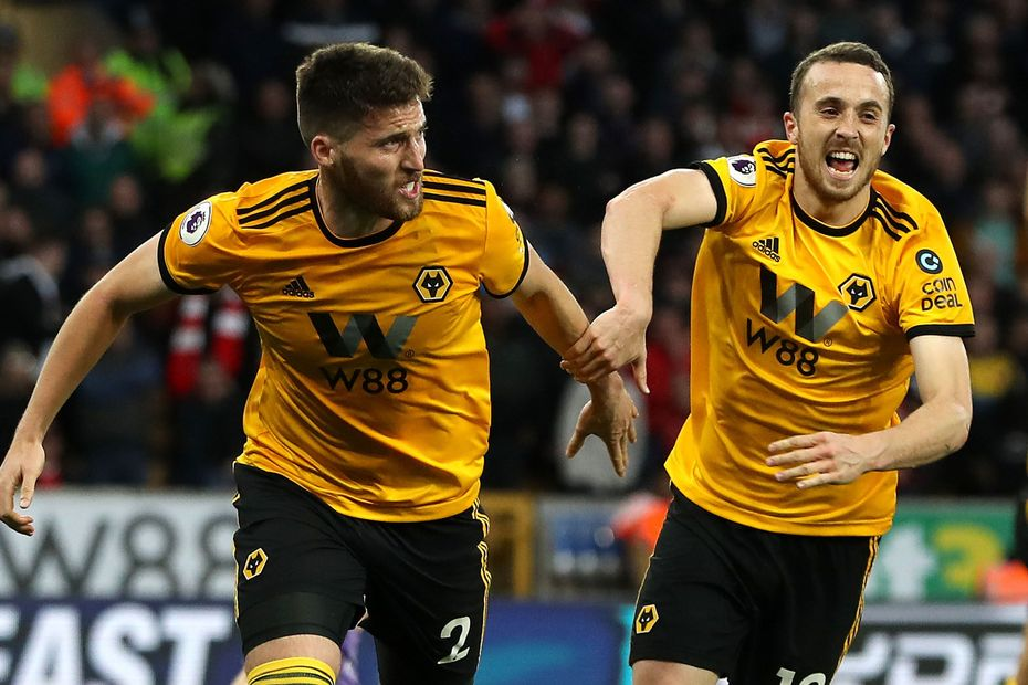 Matt Doherty and Diogo Jota, Wolves