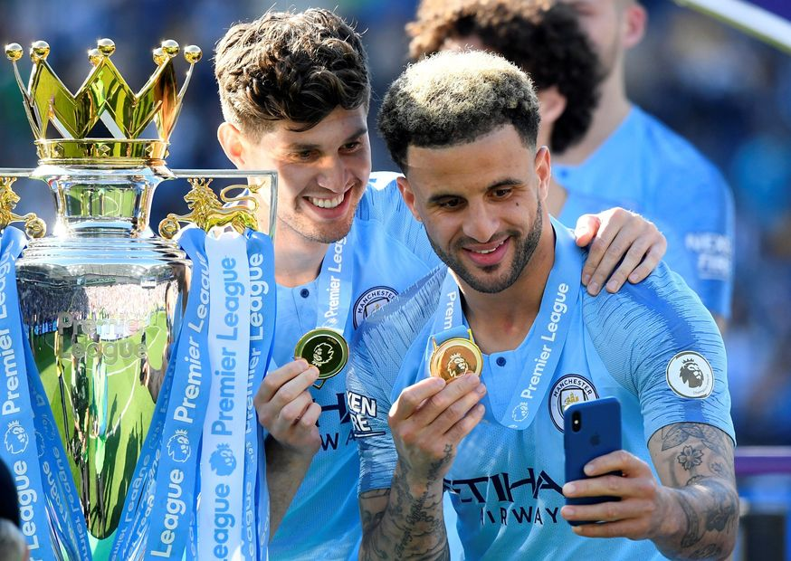 Kyle Walker and John Stones, Man City