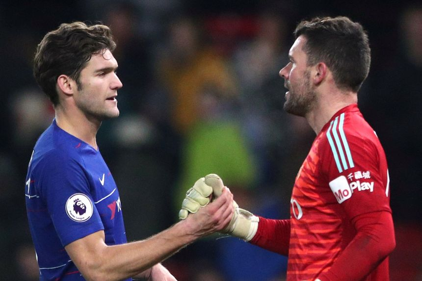 Marcos Alonso and Ben Foster