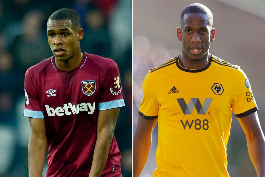 Issa Diop of West Ham and Willy Boly of Wolves