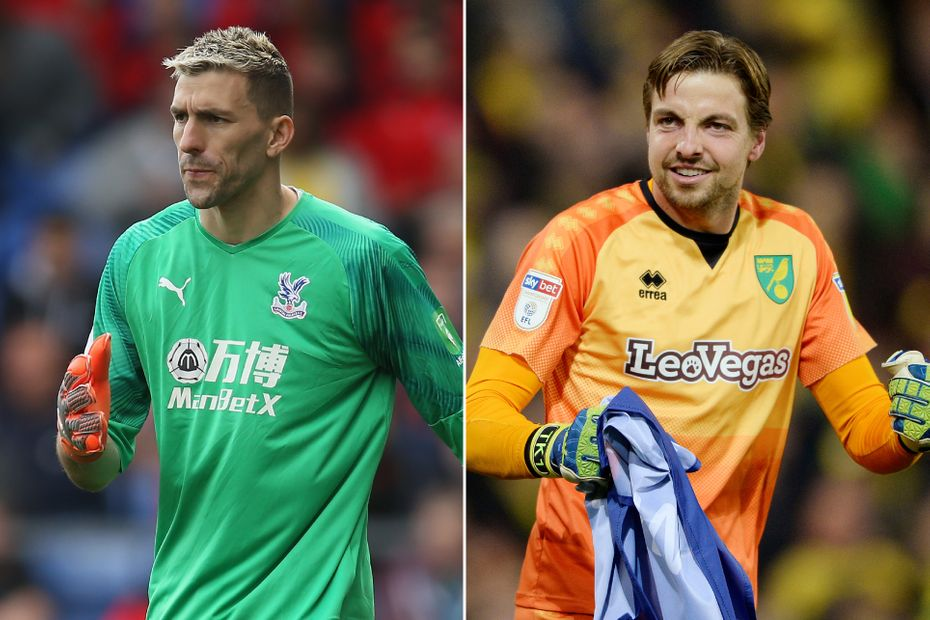 Vicente Guaita of Crystal Palace and Tim Krul of Norwich City