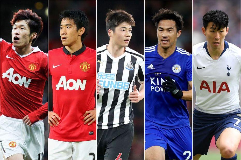 Park-Ji-Sung, Shinji Kagawa, Ki Sung-Yueng, Shinji Okazaki and Son Heung-min