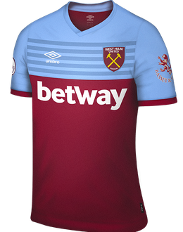 West Ham home kit, 2019-20