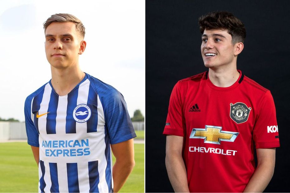 Leandro Tossard, Brighton and Daniel James, Man Utd