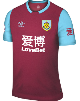 Burnley home kit, 2019-20