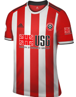 Sheffield Utd home kit, 2019-20