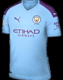 Man City home kit, 2019-20