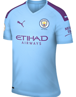 Man City home kit, 2019-20