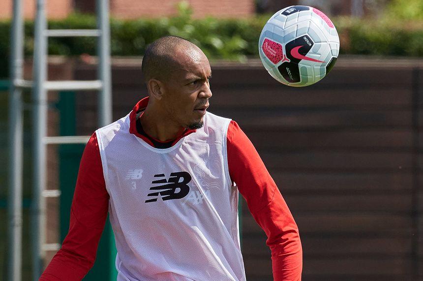 Fabinho trains with the Nike ball