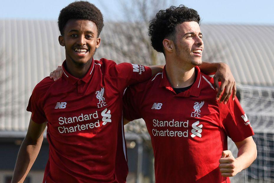 Abdi Sharif and Curtis Jones, Liverpool, PL2