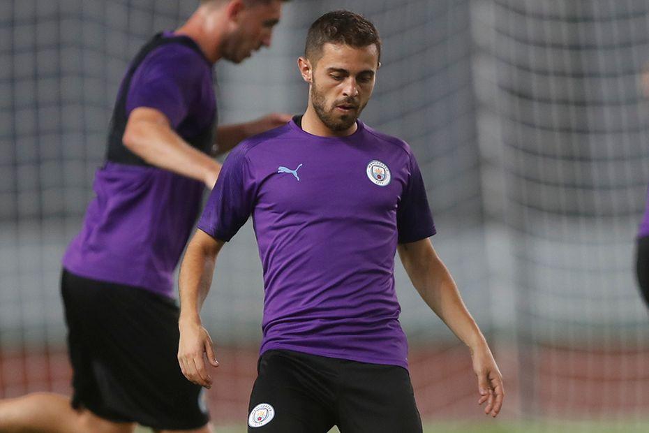 Bernardo Silva trains at the Premier League Asia Trophy