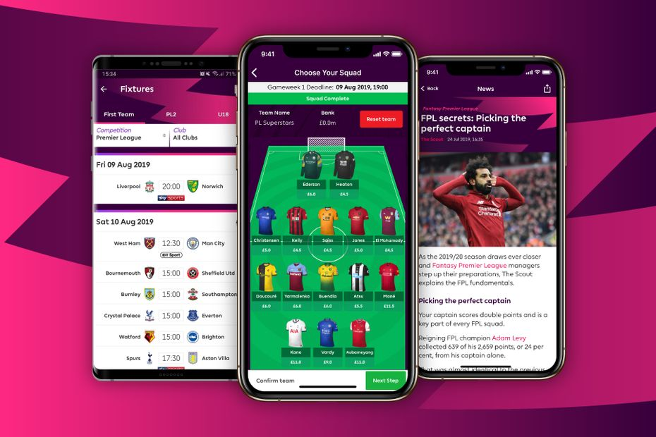 Graphic showing Fantasy Premier League in the official Premier League app