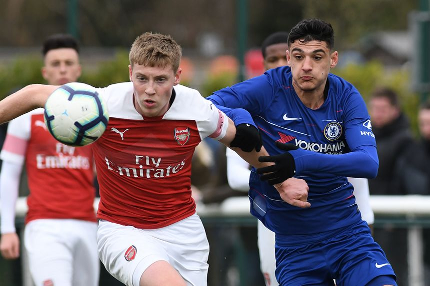 Arsenal and Chelsea in U18 Premier League action
