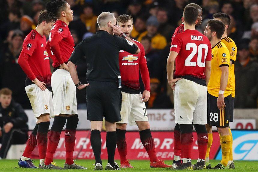 FA Cup VAR Wolves v Man Utd