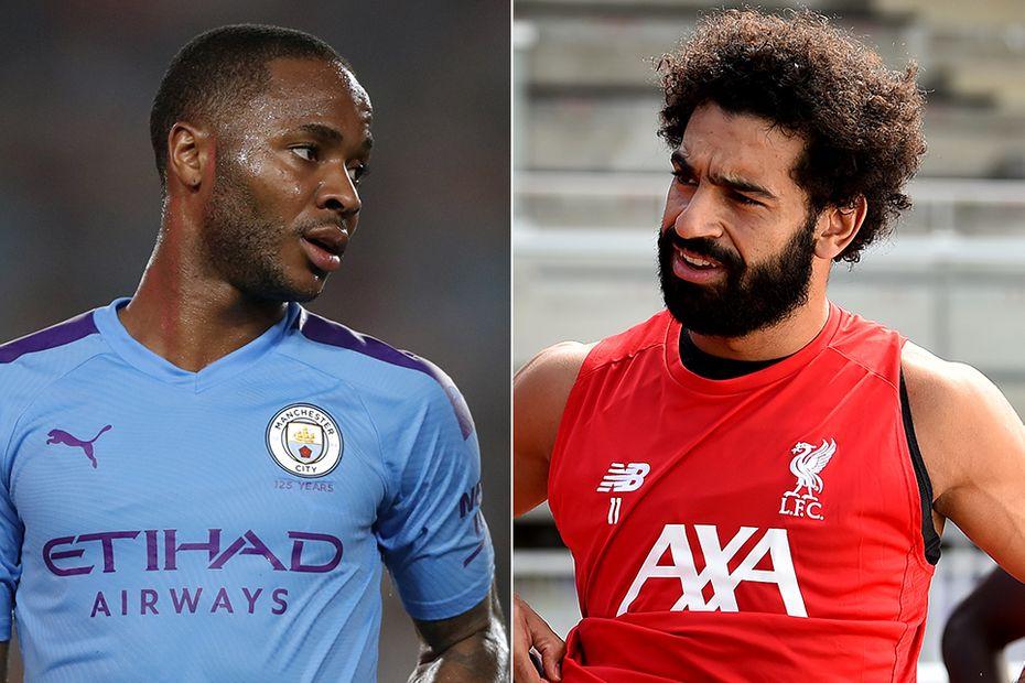 Man City's Raheem Sterling and Liverpool's Mohamed Salah