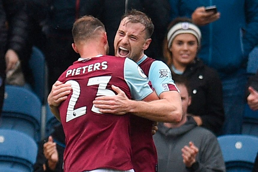 Ashley Barnes and Erik Pieters, Burnley
