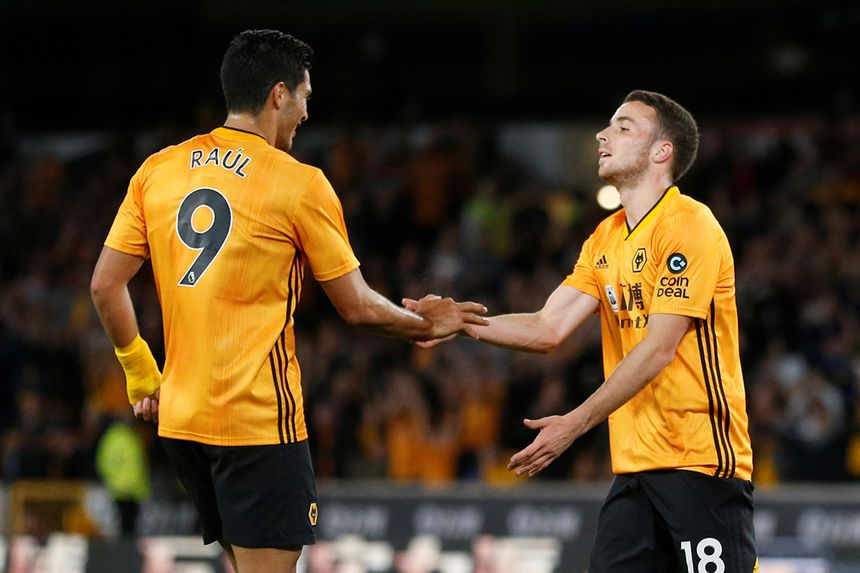 Raul Jimenez and Diogo Jota, Wolves