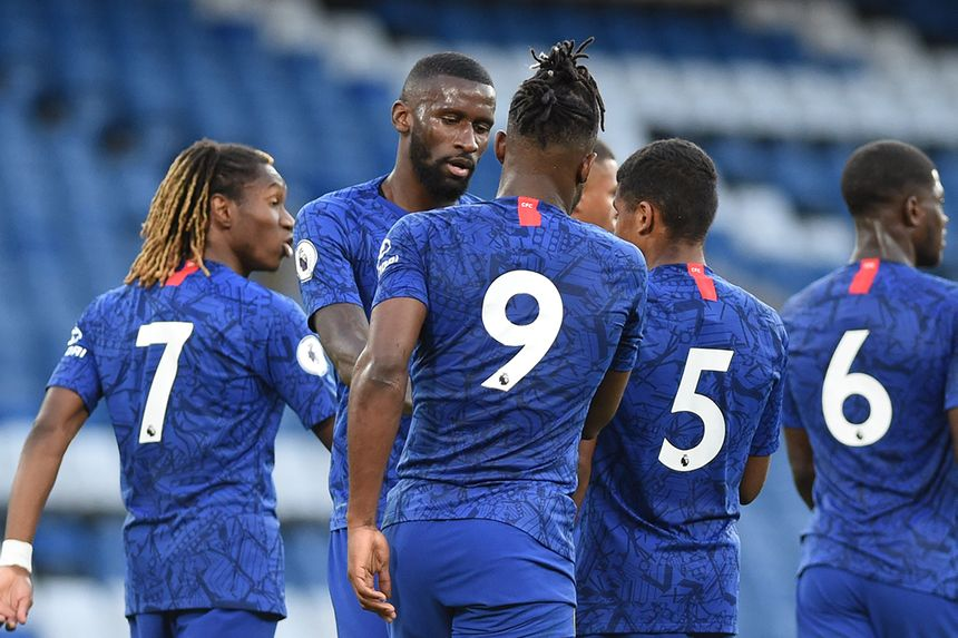 Antonio Rudiger and Michy Batshuayi, Chelsea