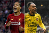 Van Dijk and Aubameyang of Liverpool and Arsenal