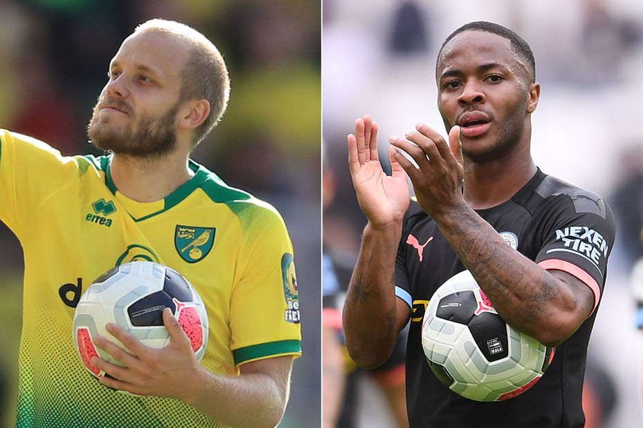 Pukki and Sterling hat-tricks wide