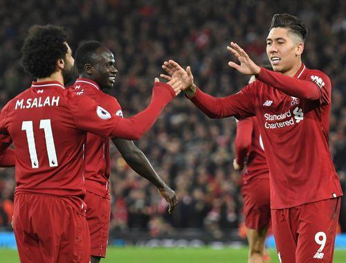 Salah, Mane and Firmino, Liverpool