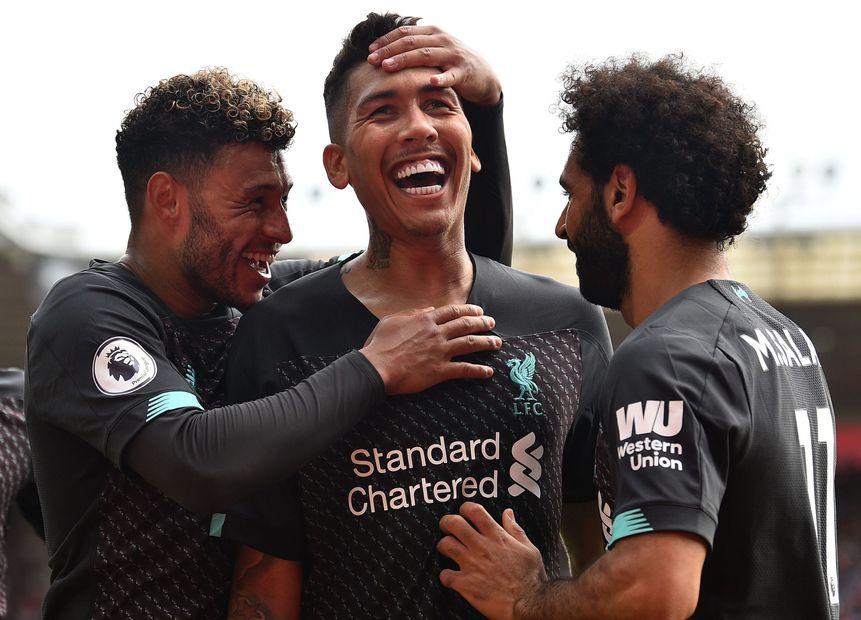 Firmino, Chamberlain, Salah, Liverpool